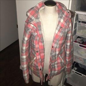 Roxy flannel shearling jacket coat